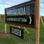 Pylon signs Yarra Valley
